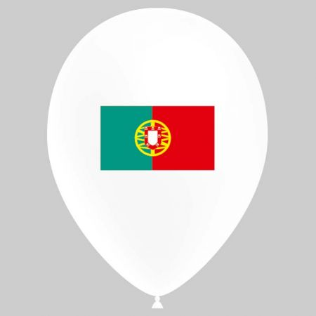 Ballon drapeau Portugal (latex)
