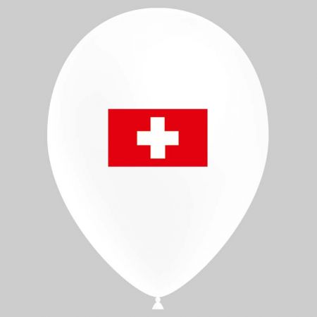 Ballon drapeau Suisse (latex)