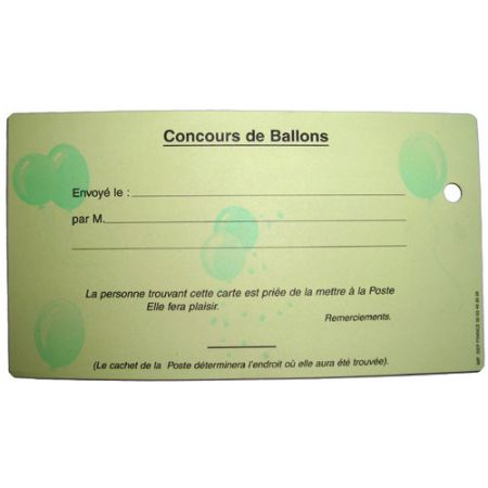 Cartes Lacher de Ballon