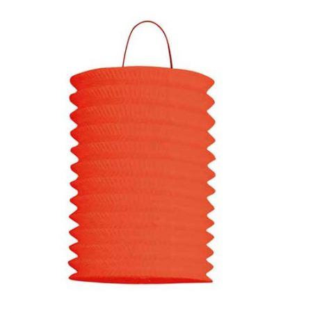 Lampion cylindrique 13cm Rouge