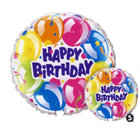 Ballon Happy Birthday rond