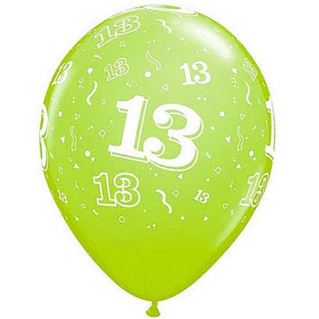 Ballon 13 ans qualatex assortiment tropical