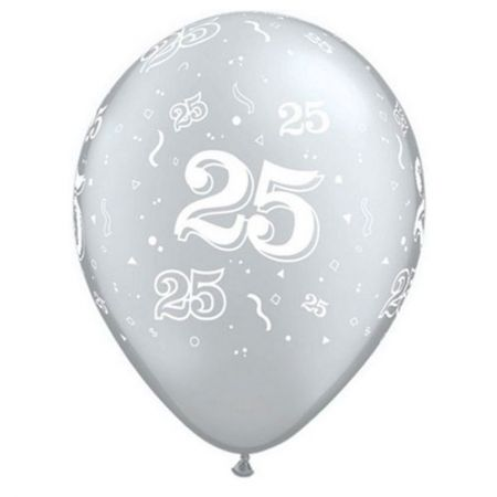 Ballon 25 ans qualatex argent