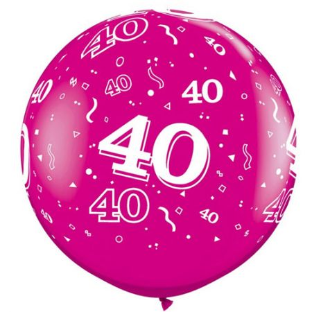 Ballon géant 40 ans qualatex fuschia