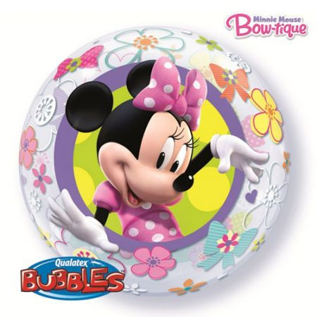 Ballon Bubble Minnie Mouse Bow-Tique