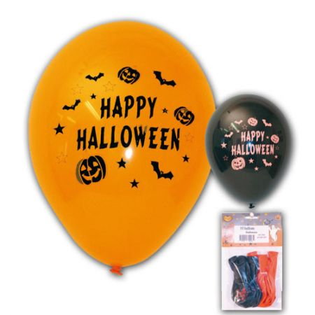 Ballon Happy Hallowen Assortis orange et noir