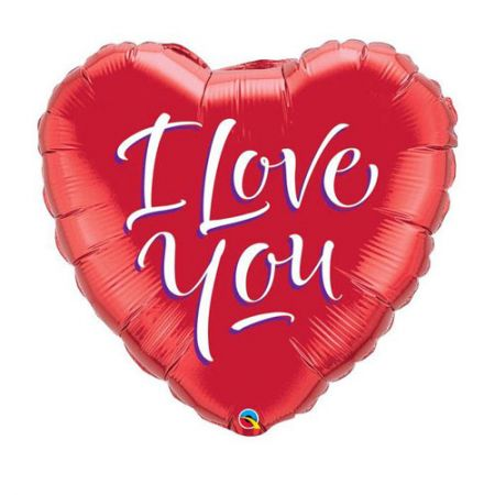Ballon coeur I love You rouge