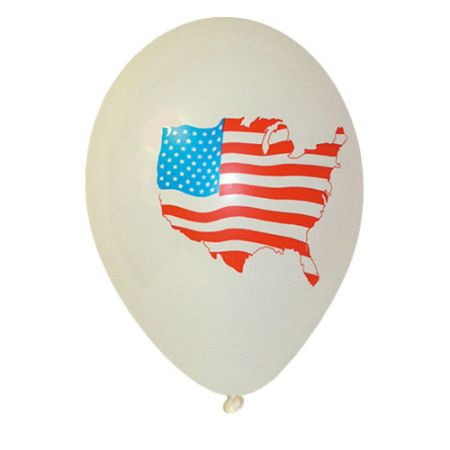 Ballon drapeau USA (latex)