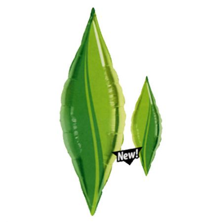 Ballon Mylar pointe feuille d'arbre (taper green leaf)