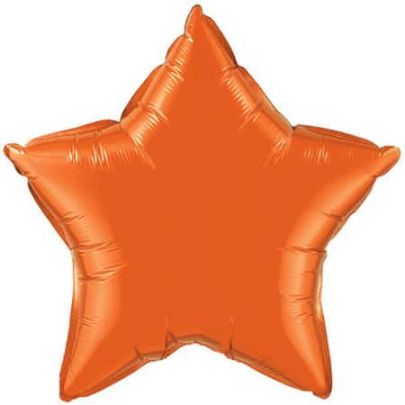 Ballon Mylar étoile orange