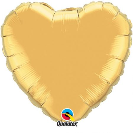 Ballon Mylar Coeur or (gold metllic)