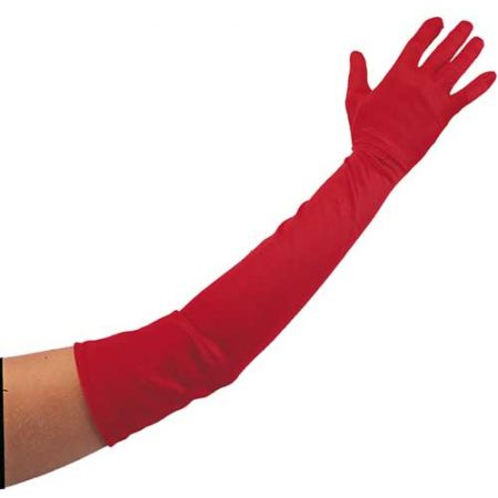 Gants Longs Rouges 56cm