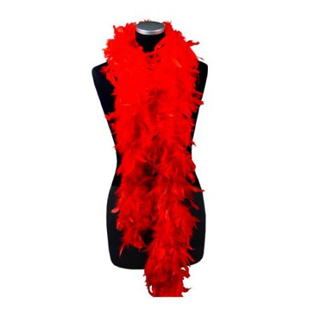 Boa Plumes 1,80m 50 g Rouge