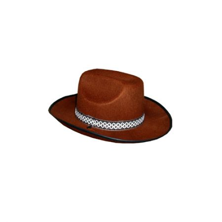Chapeau Feutre Cow Boy Marron