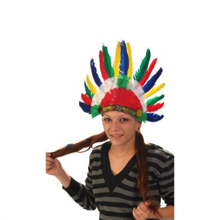 Coiffe indien 14 plumes
