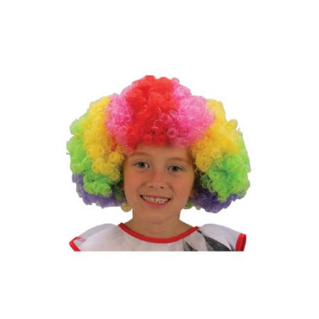 Perruque Enfant Pop Clown Multicolore