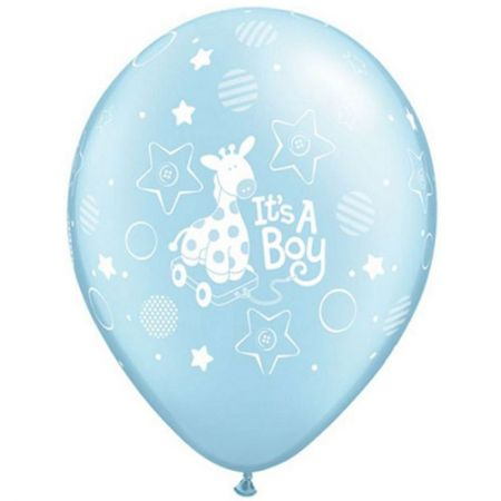Ballon it's a boy qualatex bleu ciel
