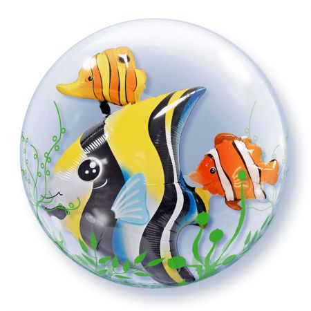 Ballon Double Bubble Poisson Tropical