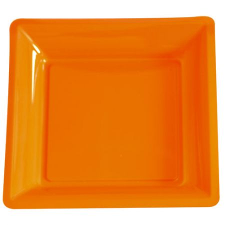 Assiette carrée Orange Luxe